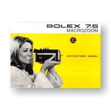 BOLEX 7.5 Macro-Zoom User Manual