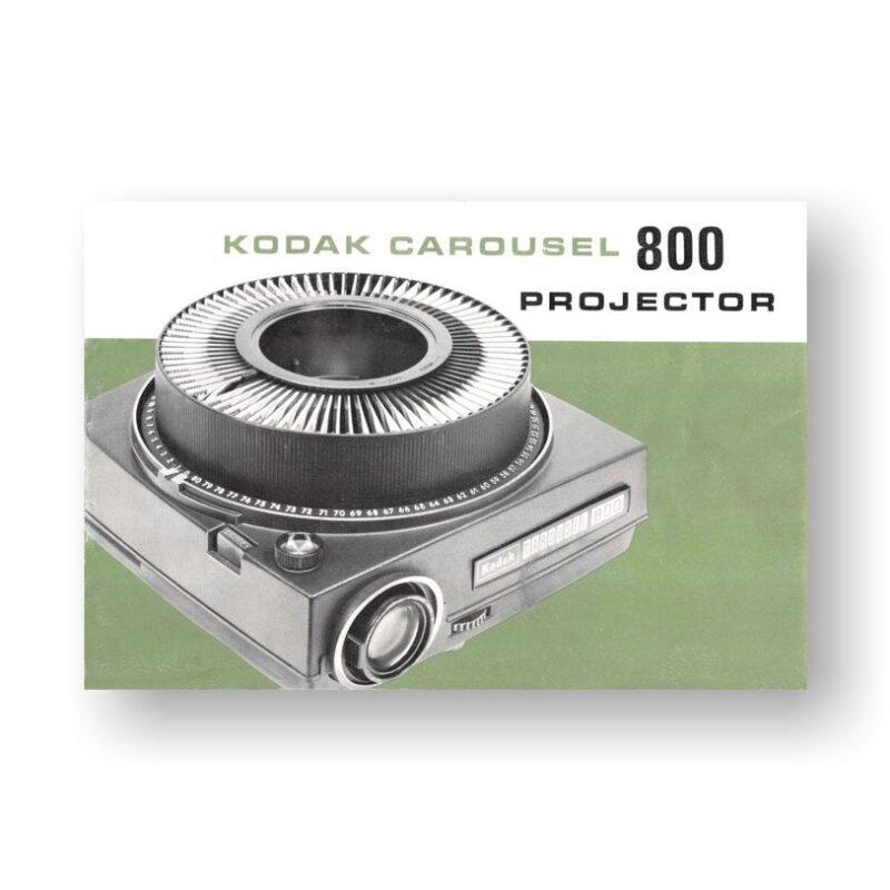 Kodak Carousel 800 Owners Manual
