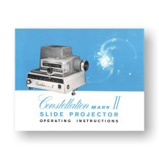 Constellation Mark II Owner's Manual | 35mm Slide Projector
