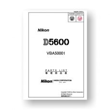 Nikon D5600 Parts List PDF Download