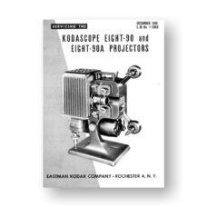 Kodascope Eight-90 Eight-90A Projector-Service