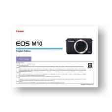 Canon EOS M10 Parts Catalog
