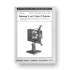 Kodascope G GII Projector Service Manual Parts List PDF Download