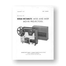 Kodak M105-M109 Projector Service