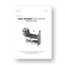 Kodak M110 Projector Service Manual Parts List