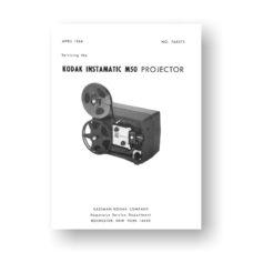 Kodak M-50 Projector Service Manual Parts List