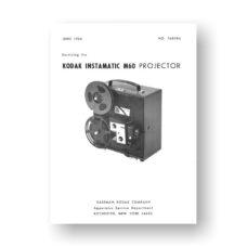 Kodak M50 Projector Service Manual Parts List