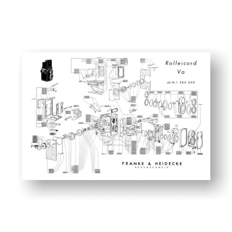 Rolleicord Va-2 Exploded View Chart PDF Download