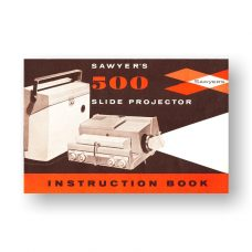 Sawyers 500 Owners Manual | 35mm Slide Projector