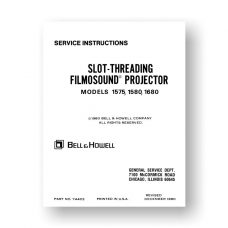 Bell & Howell 1575 1580 1680 Service Manual Parts List