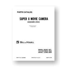 Bell & Howell 2144 Service Manual Parts List   Super 8 Camera