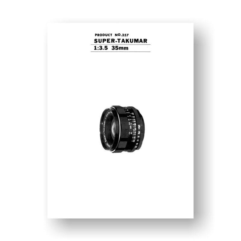 #357 Pentax Super Takumar 35mm 3.5 Parts List