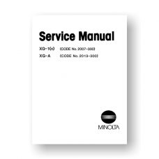Minolta XG-1n XG-A Service Manual Parts-List