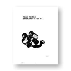 Asahi Pentax 6X25 C.F. Parts List