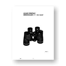 Asahi Pentax 7X35 Z.C.F. Parts List