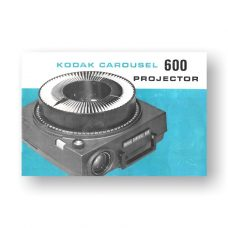 Kodak Carousel 600 Owners Manual
