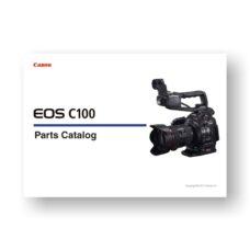 Canon EOS C100 Parts List