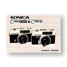 Konica C35-V Owners Manual Plus