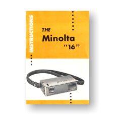 12-page PDF 4.12 MB Minolta 16 Instructions