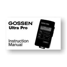 Gossen Ultra-Pro Owners Manual