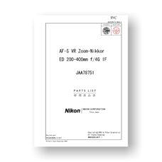 Nikon JAA78751 Parts ist