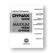 Minolta Maxxum 400si Owners Manual